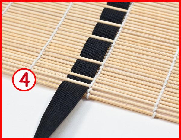 Как сделать чехол для кистей из коврика для суши