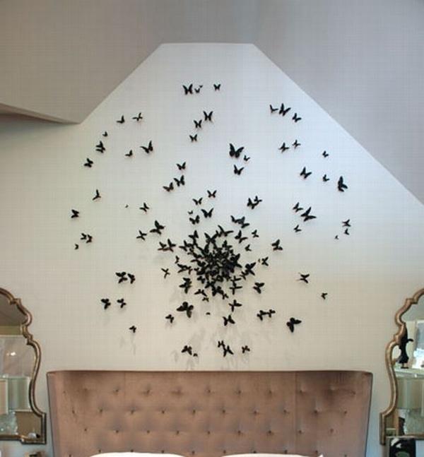 Декор стен своими руками: поселите в доме бабочек!