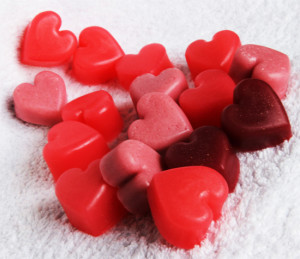 Мыльные сердечки