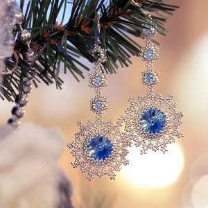 Серьги новогодние