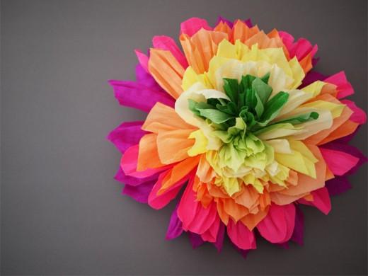 Мексиканские бумажные цветы