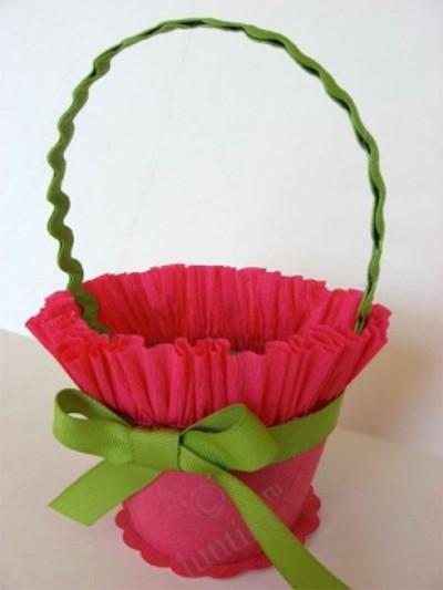 Как сделать корзину цветами своими руками
