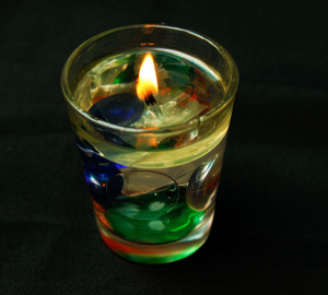 Свеча в воде