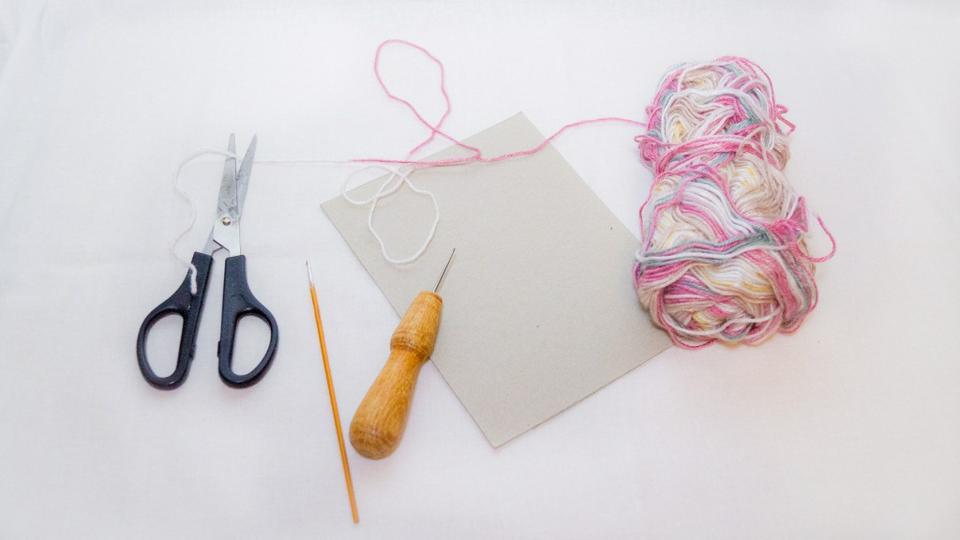 Декоративный тканый коврик