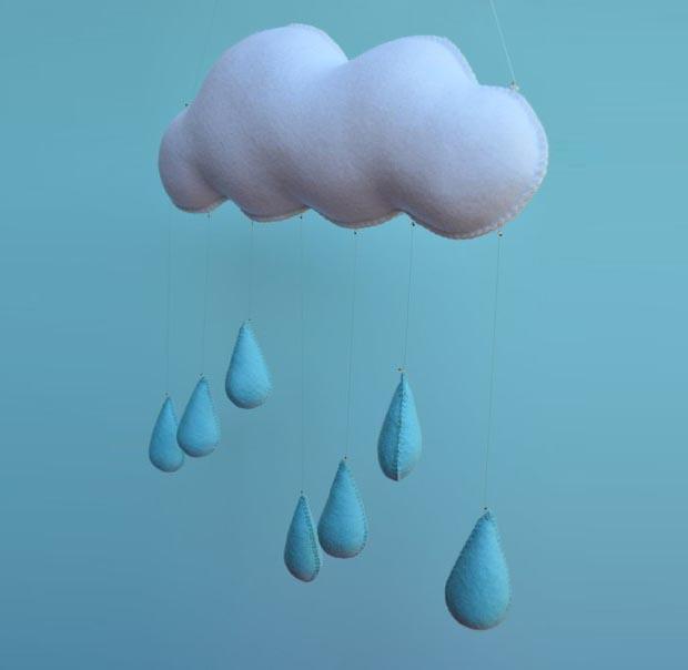 Облако из фетра в детскую