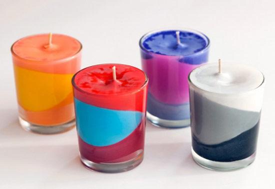 Разноцветная свеча