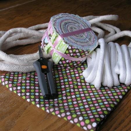 Пасхальная корзина из веревки