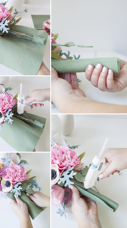 Как сделать букет из фетра своими руками 8
