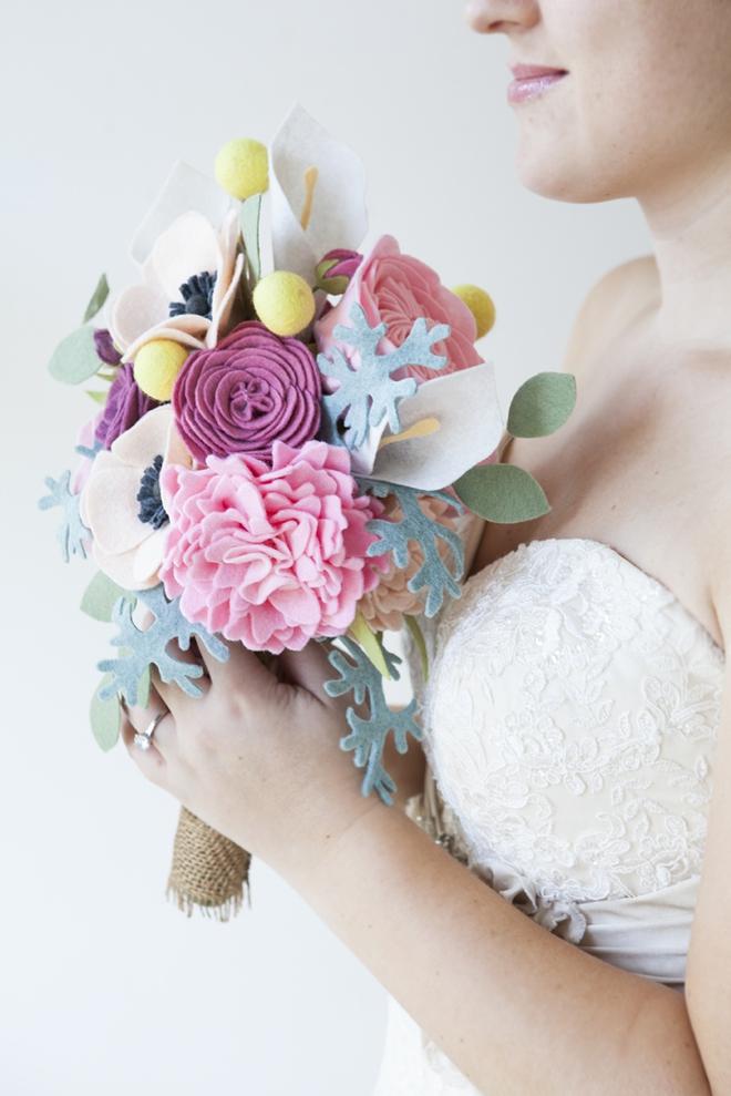 Свадебный букет из фетра