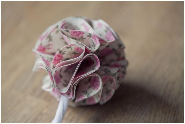 Очаровательный букетик из ткани