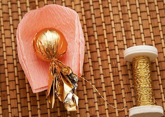 Шикарный букет из конфет