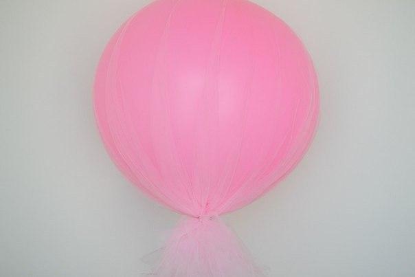 Декорирование воздушных шаров органзой