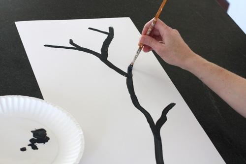 Рисуем ветку сакуры