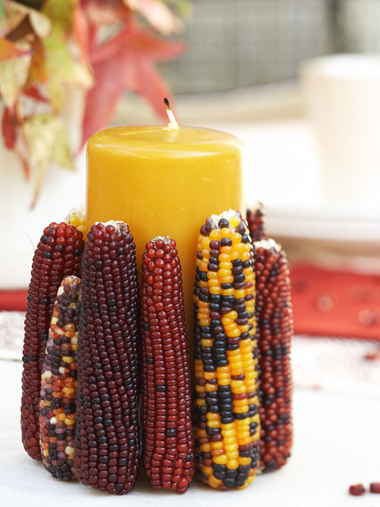Свечи для осеннего декора