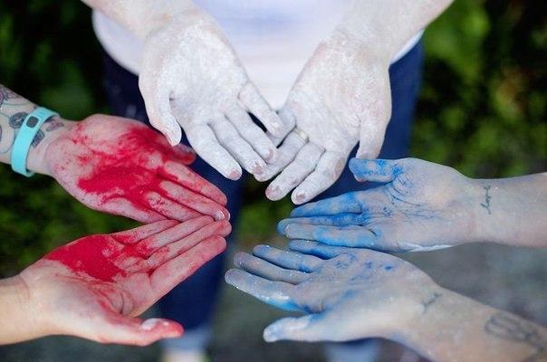 Цветные краски для фотосессии