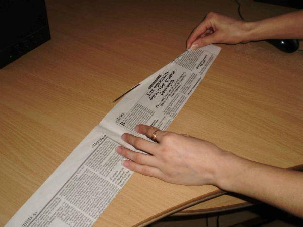 Корзинка из газет