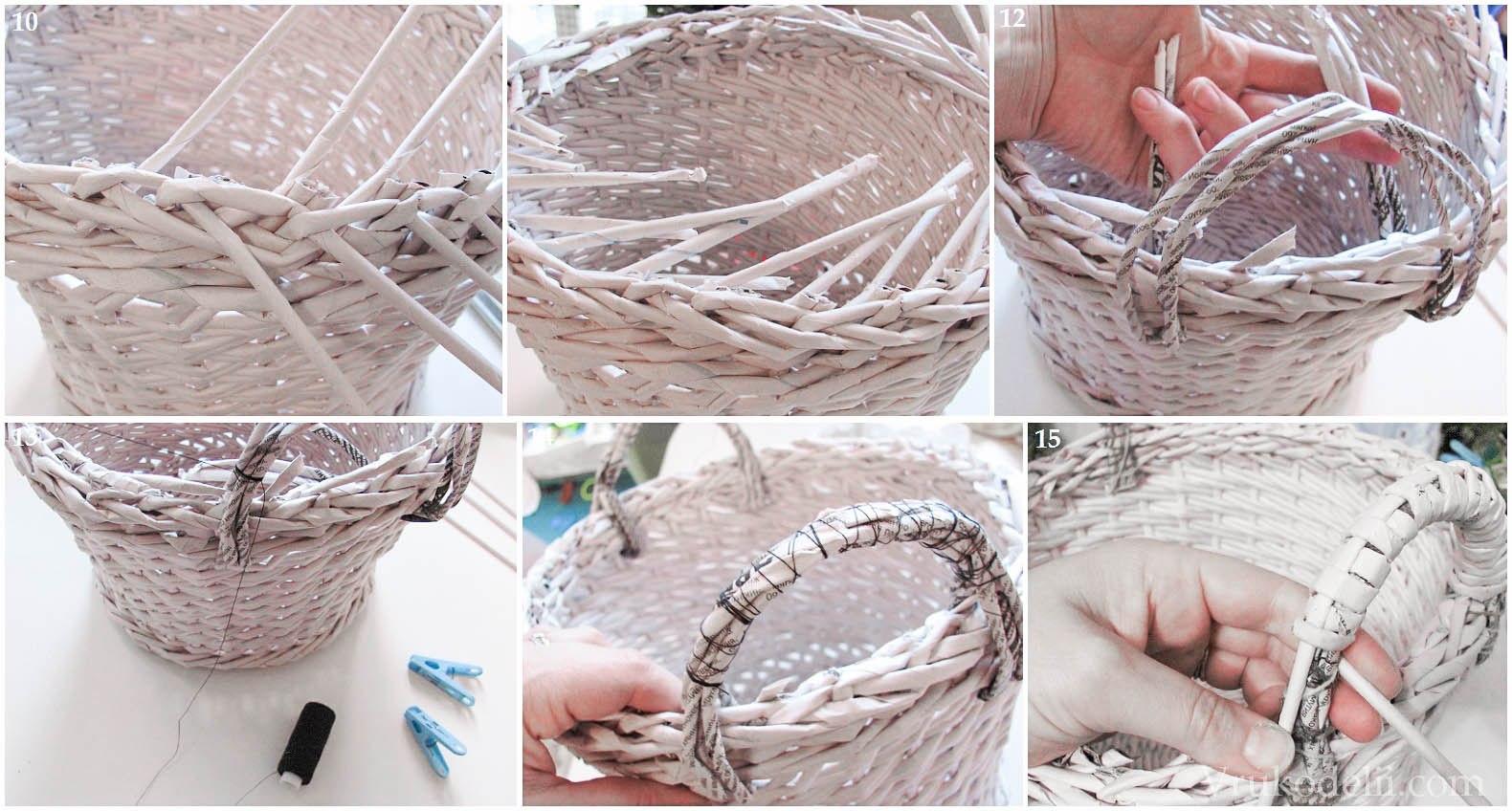 белые пятна плетем корзины из газетсвоими руками работающие севере, получают