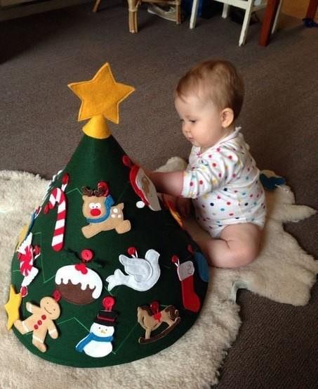 Новогодняя елка из ткани